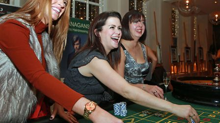 Placing their bets are Michelle Brown, Angela Wakefield and Claire Marlor
