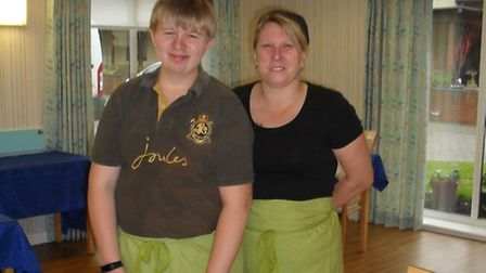 Conor O'Neill with General Assistant Donna Pope at Marina Court Residential Home