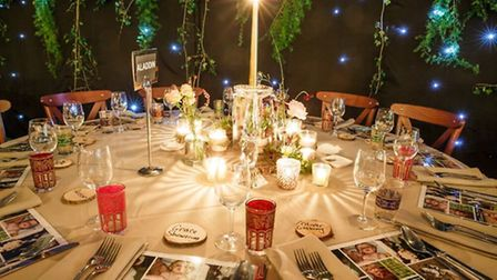 Table settings (c) Oasis Events