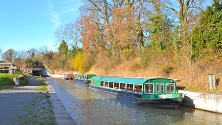 Boat trips are on offer upon this restored section of the Wey and Arun Canal, during the summer