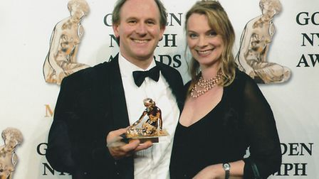 Peter and his wife Elizabeth at the Golden Nymph Awards in Monte Carlo