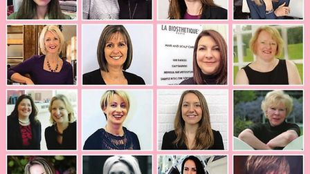 Top row: Abigail Wicking, Alexandra Finlayson, Ann Davies, Emily Taylor | Second row: Tracey Grout,