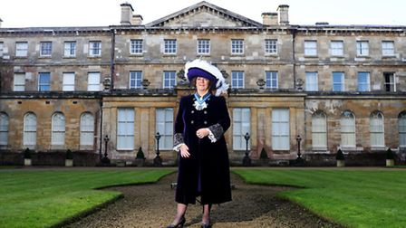 Right Honorable Countess Bathurst wearing her High Sheriff of Gloucestershire uniform