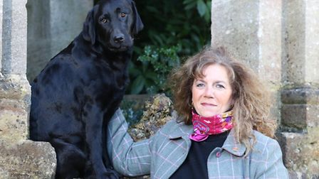 Right Honorable Countess Bathurst with her dogs