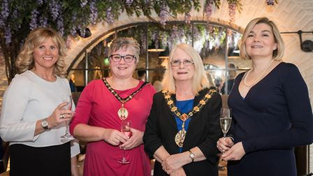 Barbara Hallwood, Mayoress Ms Noelle Ryder, The Mayor of the Borough of Trafford Councillor Judith L