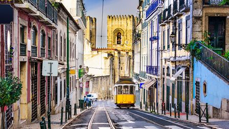 Lisbon has three tram lines winding their way through the narrow streets (Getty Images/iStockphoto)