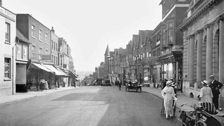 Chequer Street, St Albans, 1921 (Francis Frith Collection)