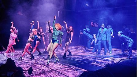 Danielle Steers (front centre) gives a dazzling performance as Zahara, in Bat Out of Hell The Musica