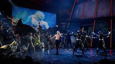 Andrew Polec and The Lost, in Bat Out of Hell The Musical. Credit: Specular