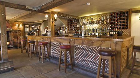 The Bugle with its beams, flagstones and woodburning stove is a popular Hamble pub