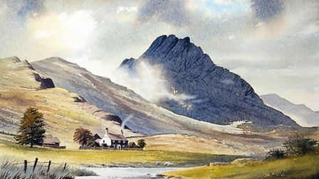 Tryfan and Farmhouse