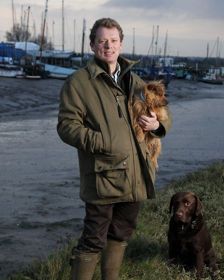 One man and his dogs: exercise and relaxation