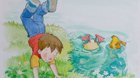 A typically charming children's book illustration by Priscilla Lamont