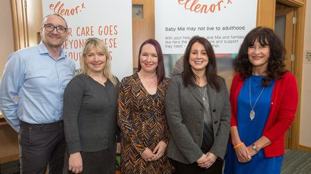 Dr Russ Hargeaves, Head of Wellbeing, Rachel Holweger, Director of Income Generation, Clare Cardy, C
