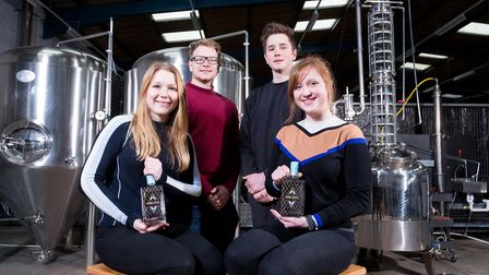 Siblings L-R, Clarice Elliot-Berry, Felix, Digby and Cicely have moved Sibling Distillery into new p