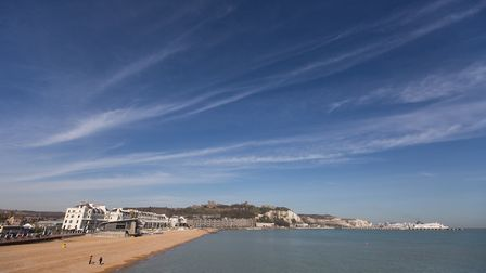 Dover's sweeping seafront