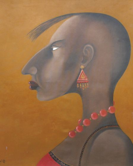 Indian portrait by John Wright