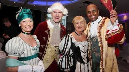 Bethan Evans, Adrian Ellis (General Manager of the Lowry Hotel), Carolyn Mellor (Maggie's) and Paul