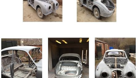 Jaguar Mark 2 before and after blasting. Photos: M R K Services