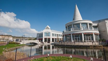 Bluewater was built in a former chalk quarry east of Dartford