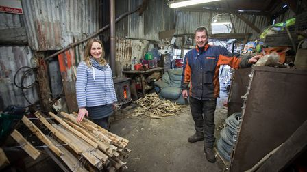 Chestnut coppicer Mike Mills and his wife Emily from Wateringbury