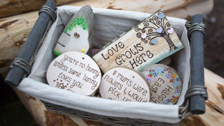 Handcrafted decorative pieces by Emily Mills