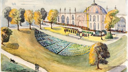 Plans for performance space in Royal Pavilion Garden, 1920s or 1930s. Courtesy of Royal Pavilion and