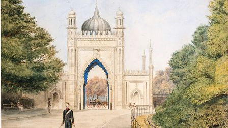 R. Rust, The North Gate, Royal Pavilion, 1885. Courtesy of Royal Pavilion and Museums, Brighton and
