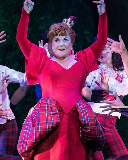 Wonderland: Wendi Peters as The Queen of Hearts rules the stage Photo: John Roberts