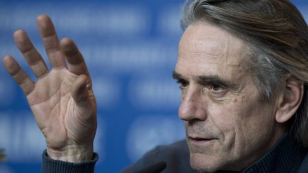 Jeremy Irons at a 2013 press conference in Berlin for his film Night Train to Lisbon (Photo: John Ma