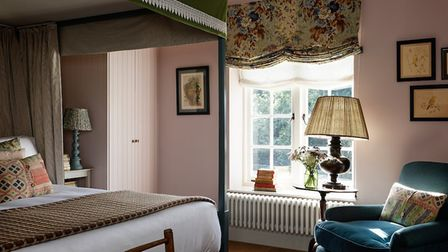 One of the bedrooms at The Garden House - each is named after a herb grown in their garden