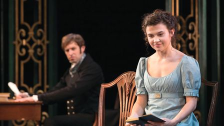 Benjam Dilloway and Tafline Steen as Mr Darcy and Elizabeth Bennet in a new adaptation of Pride & Pr