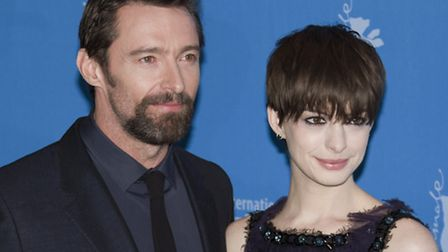 Anne Hathaway and Hugh Jackman promoting Les Miserables (Shutterstock)