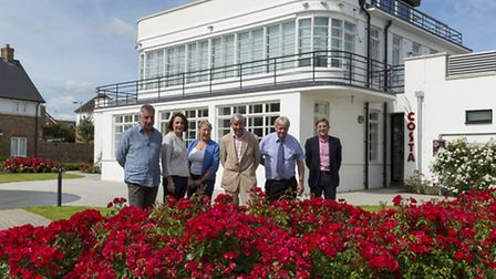 South East in Bloom judging panel tour around the Control Tower at Kings Hill. Guests included judge