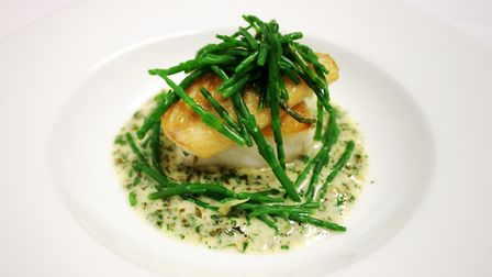 Pollock, samphire and sauce Nandaist, Dylan's at the King's Arms, St Albans