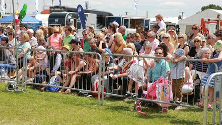 Spectators at the main arena at the Royal Cheshire Show