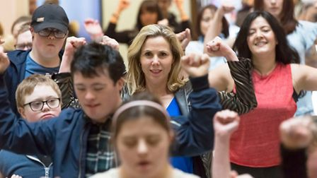 Sally Phillips in the BBC documentary A World Without Down's Syndrome (c) Brian Ritchie-BBC-Dragonfl