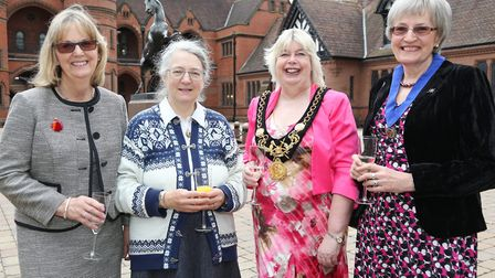 Sylvia Cheater MBE (Chair of the Cheshire Woman Award Society), Hilary Ash (Cheshire Woman of the Ye