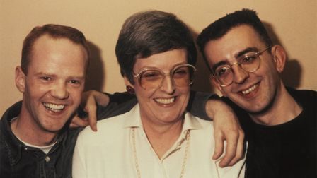 Jimmy and me with my mum (from Fathomless Riches by Revd Richard Coles)