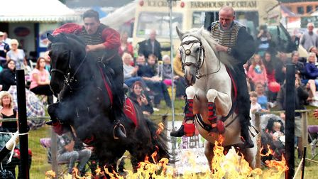 The dramatic Cossack-inspired riding at one of the many shows the team travels to