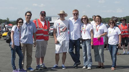 Dalton (second left) with Chris Evans and a few of The Supercar Event team (Photo: Andy Newbold)