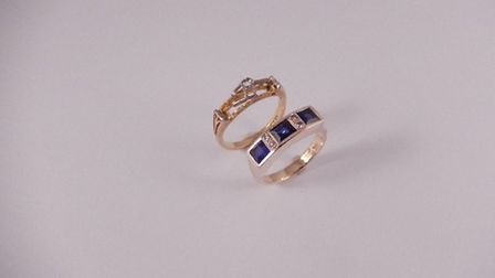 The customer's original ring was very worn, had lost a sapphire and was beyond repair. We remounted