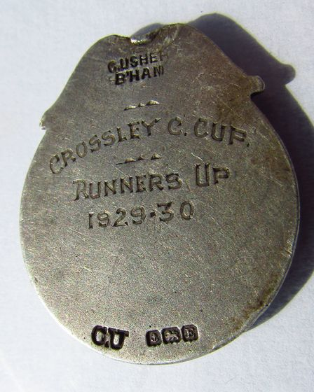 CAPTION: A football medal from 1923, found in Nantwich by Don Corden. (5)