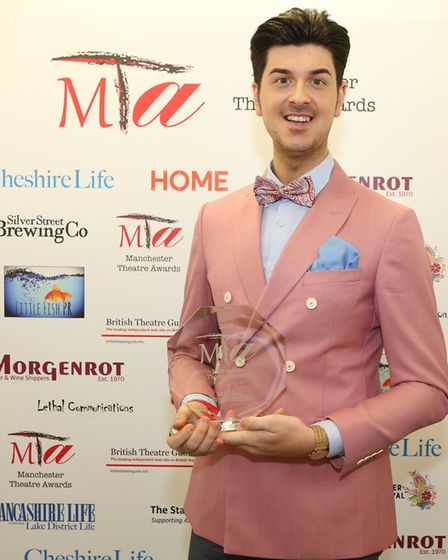 Special Achievement award was presented to Hope Mill Theatre. Photographed here is Joseph Houston.