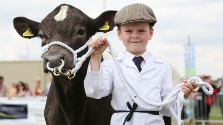Eight year old Jake Daley won Young Handler 1st Prize