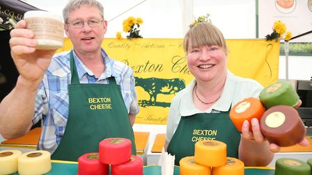 Charles and Jane Hough of Bexton Cheese