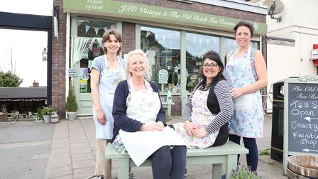 JTO Vintage & The Old Bank Tea Rooms; Becci Moore, Diane Ormrod, Sonia Juby and Sarah Thakur
