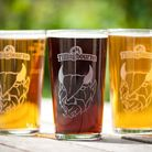 Pints of Tillingbourne's best in their signature glasses