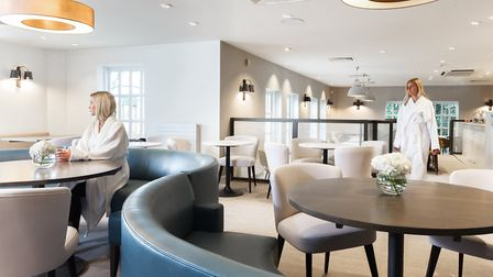 Champneys robes are the typical dress code of fellow diners to the restaurant