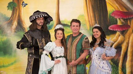 Shane with the cast of Robin Hood. Picture by Ian Olsson Photography.